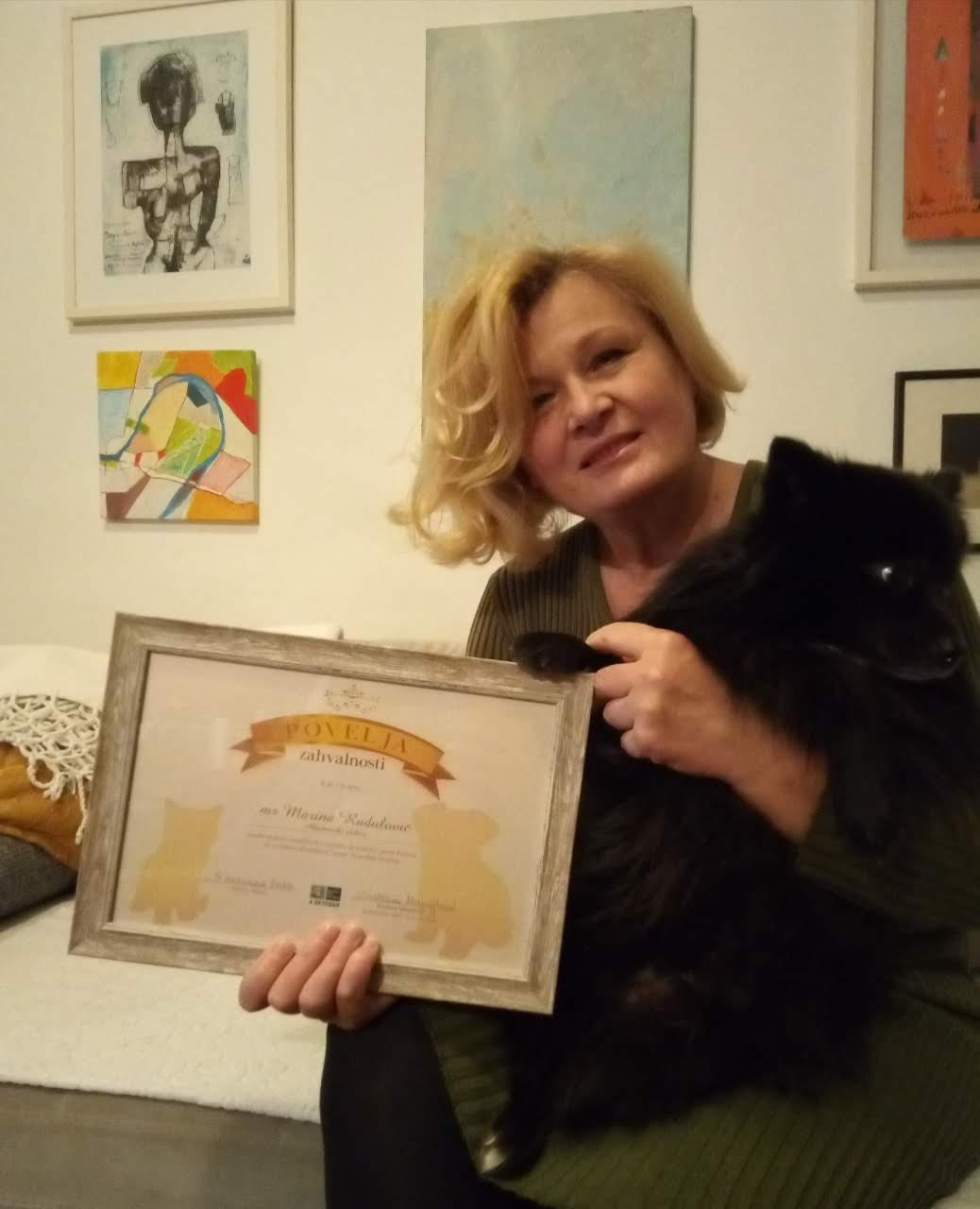 Prvi laureat pruznanja povodom Svetskog dana životinja - First recipient of the World Animal Day award in Montenegro