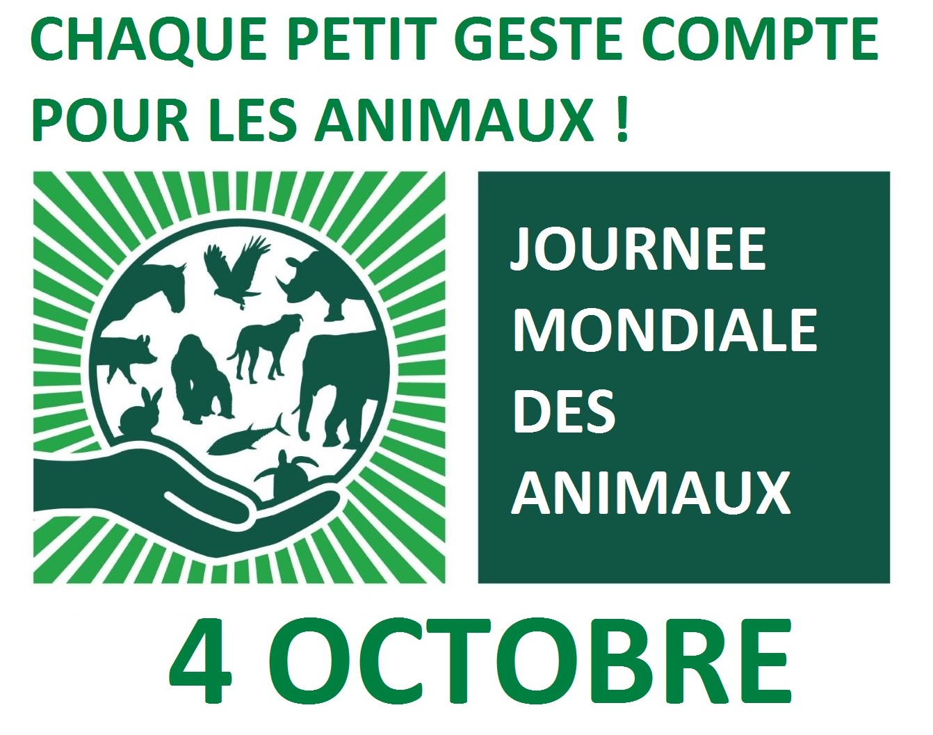 World Animal Day France : Stand d'Information Droits des Animaux Sud et L214