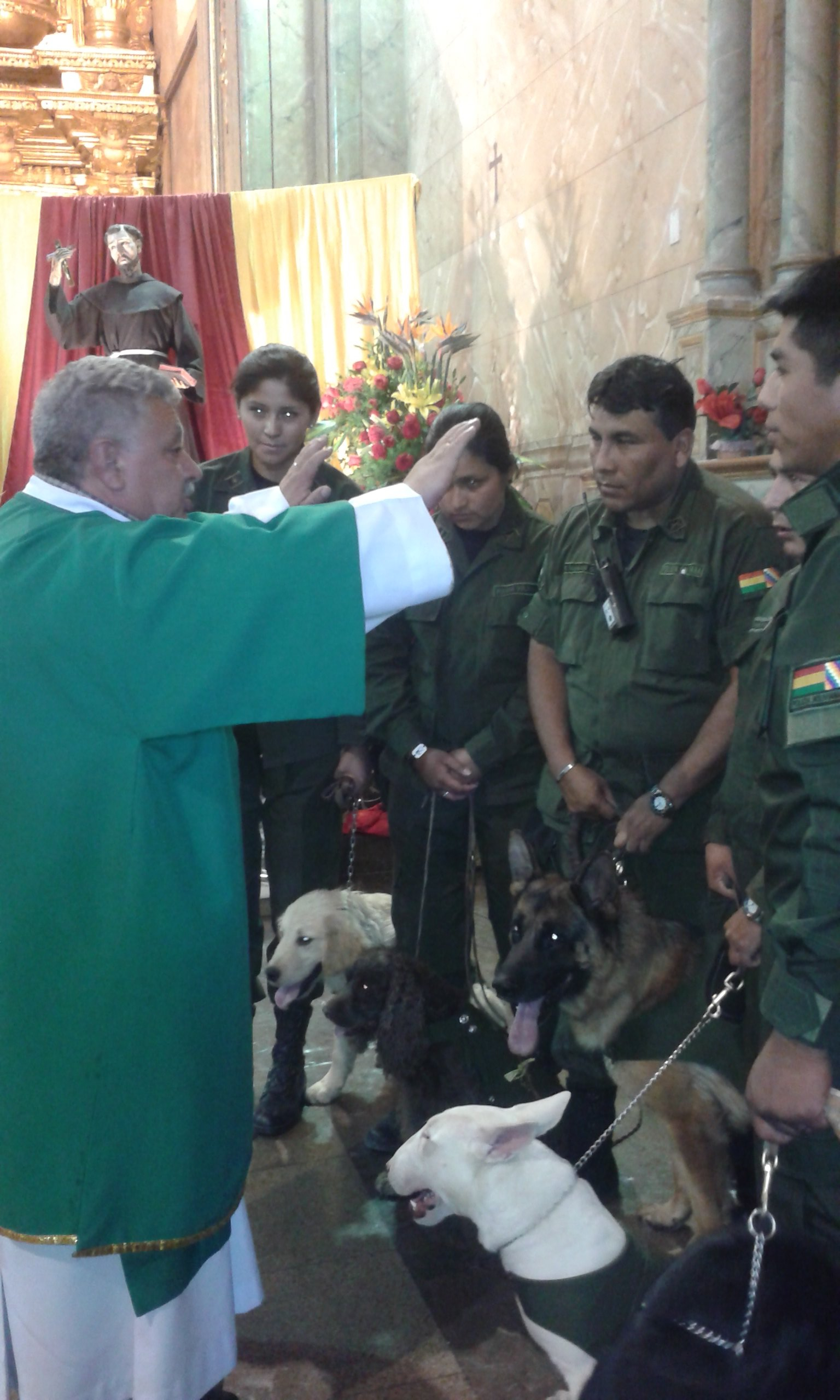 Blessing of the Animals in Cochabamba Cathedral, Bolivia