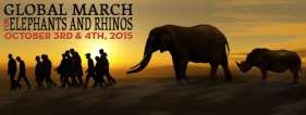Global March for Elephants and Rhinos in London
