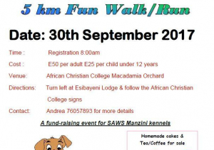 Walk or run for the animals