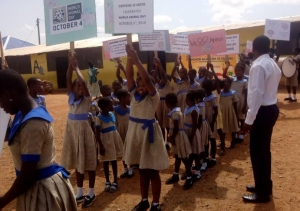 Children march for animals in Ghana