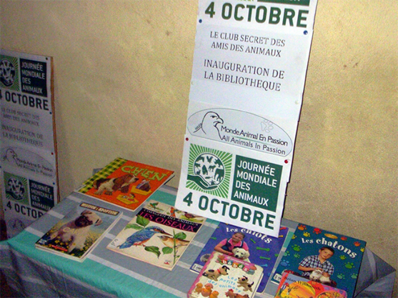 Inauguration ceremony of the secret friends animals club library