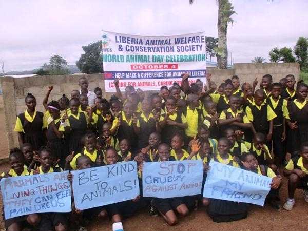 Addressing the plight of animals in Liberia through public engagement and actions