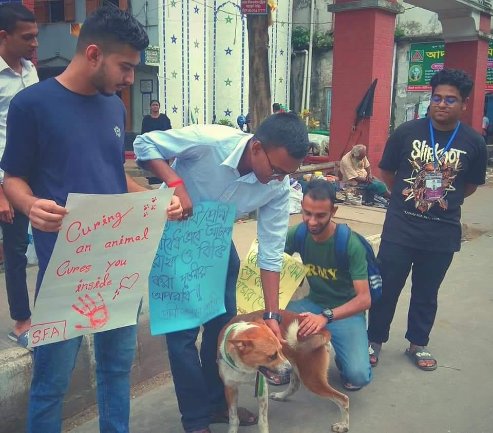 Awareness campaign by Human Chain on World Animal Day, 2019